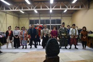 11月23日、奈良植村牧場にて稽古風景